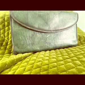 Handbags - Vintage Green leather wallet